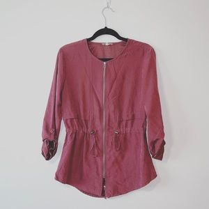 Maurices | Plum Soft Suede Full Zip Jacket | Sz S